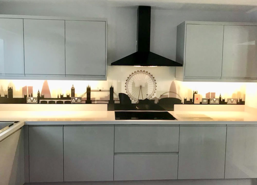 patterned splashback