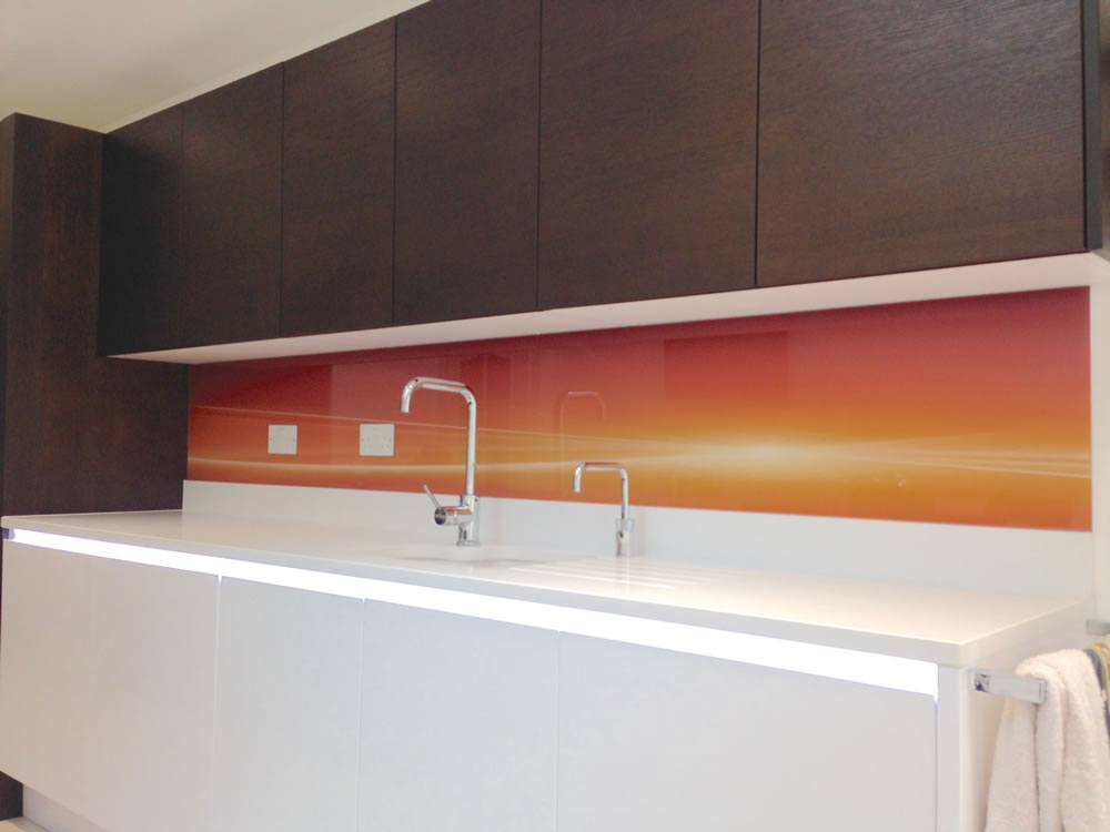 Printed Orange Splashback